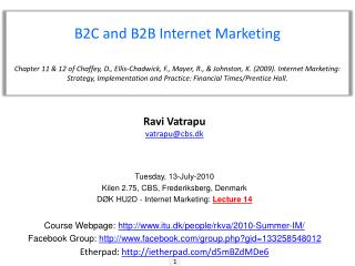 B2C and B2B Internet Marketing