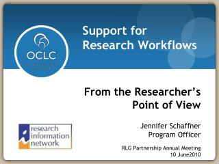 From the Researcher's  Point of View