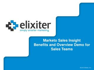 Marketo Sales Insight Benefits and Overview Demo for Sales Teams