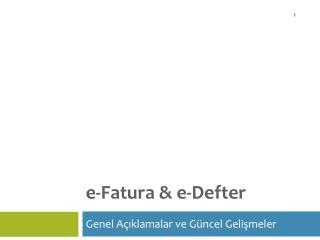 e-Fatura & e-Defter