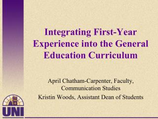 Integrating First-Year Experience into the General Education Curriculum