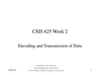 csis 625 week 2