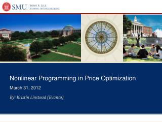 Nonlinear Programming in Price Optimization