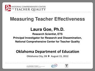 Measuring Teacher Effectiveness