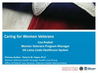 Caring for Women Veterans