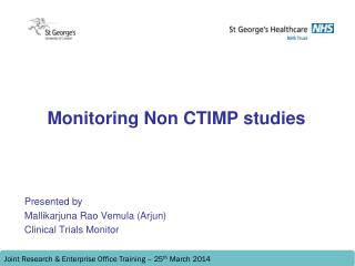 Monitoring Non CTIMP studies
