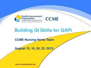 Building QI Skills for QAPI