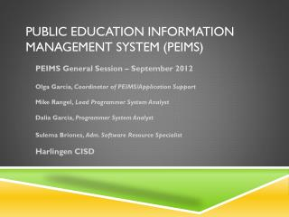 Public Education Information Management System (PEIMS)