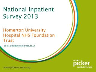 National Inpatient Survey 2013 Homerton  University Hospital NHS Foundation Trust