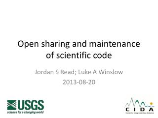 Open sharing and maintenance of scientific code