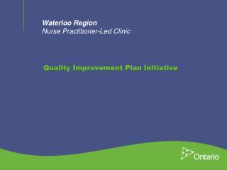 Waterloo Region Nurse Practitioner-Led Clinic