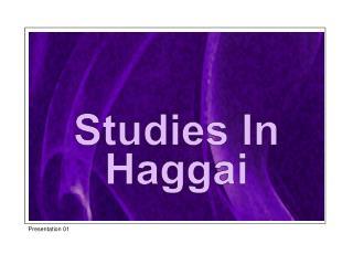 Studies In Haggai