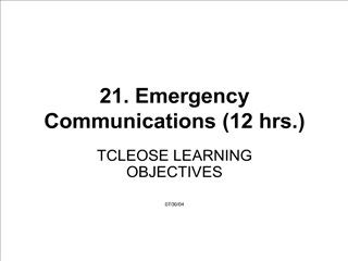 21. emergency communications 12 hrs.