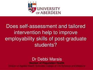 Does self-assessment and tailored intervention help to improve employability skills of post-graduate students?