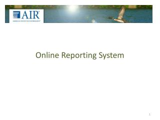 Online Reporting System