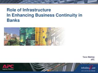role of infrastructure in enhancing business continuity in banks