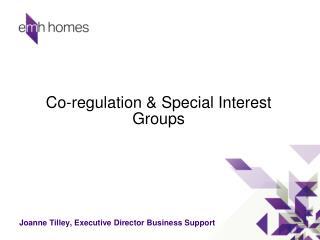 Co-regulation & Special Interest Groups