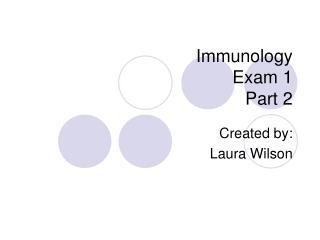 immunology  exam 1 part 2