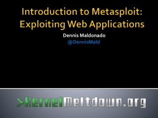 Introduction to Metasploit: Exploiting Web Applications