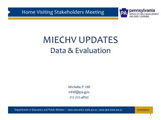 MIECHV UPDATES Data & Evaluation
