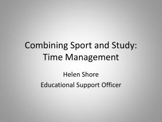 Combining Sport and Study: Time Management