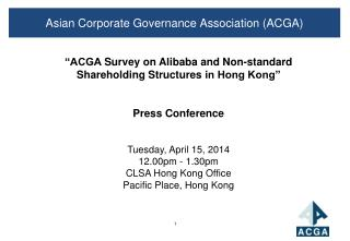 Asian Corporate Governance Association (ACGA)
