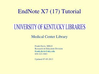 EndNote X7 (17) Tutorial