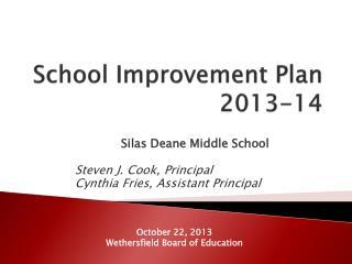 School Improvement Plan  2013-14
