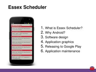 Essex Scheduler