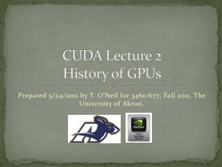 CUDA Lecture 2 History of GPUs