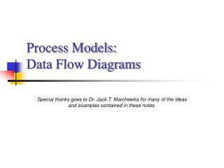 process models: data flow diagrams