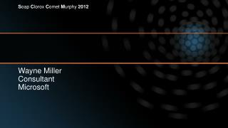 Wayne Miller Consultant Microsoft