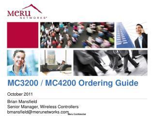 MC3200 / MC4200 Ordering Guide