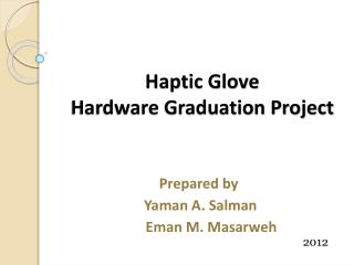 Haptic Glove Hardware Graduation Project