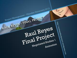 Raul Reyes  Final Project