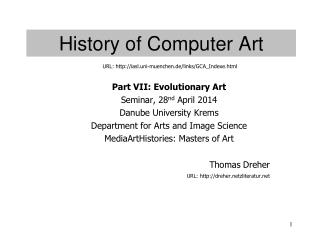 History of Computer Art