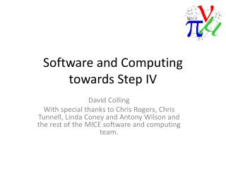 Software and  Computing towards Step IV