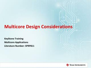 Multicore Design Considerations