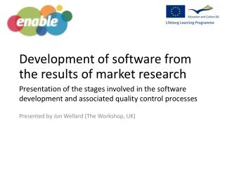 Development of software  from the results of  market research