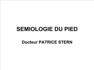 semiologie du pied