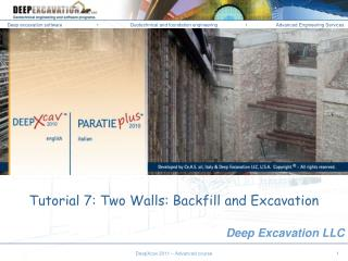 Tutorial 7: Two Walls: Backfill and Excavation