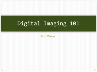 Digital Imaging 101