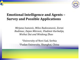 Emotional Intelligence and Agents � Survey and Possible Applications