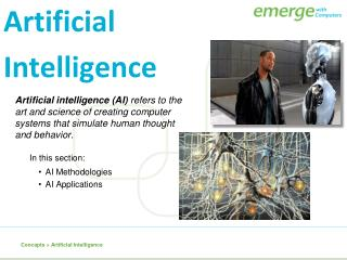 Artificial intelligence (AI)  refers to the art and science of creating computer systems that simulate human thought an
