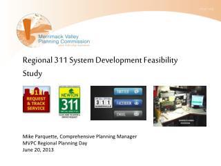 Regional 311 System Development Feasibility Study