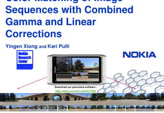 Color Matching of Image Sequences with Combined Gamma and Linear Corrections