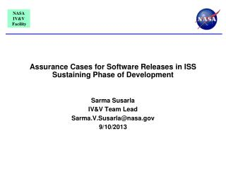 Assurance  Cases  for  Software  R eleases  in ISS  Sustaining  P hase  of  Development