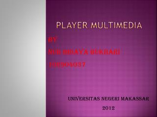 Player multimedia