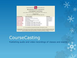 CourseCasting