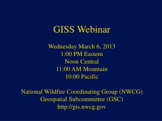 NWCG Geospatial Sub Committee